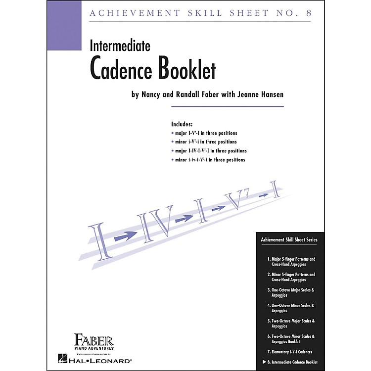 Faber Music Achievement Skill Sheet No.8: Cadence Booklet - Faber Piano