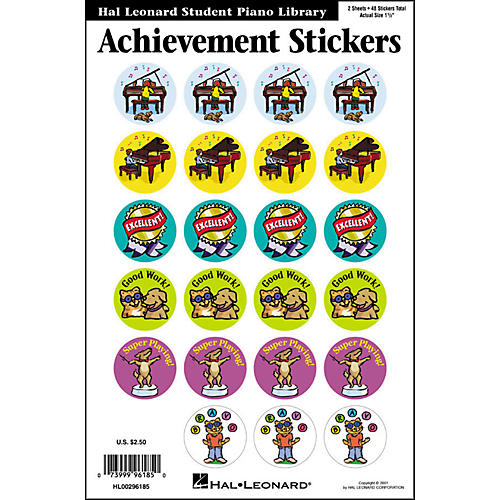 Hal Leonard Achievement Stickers Package Hal Leonard Student Piano Library