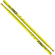 Zildjian Acorn Tip Neon Yellow Drumsticks 5A Wood Tip