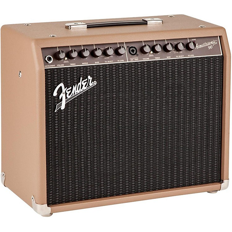 Fender Acoustasonic 90 90W Acoustic Combo Amp Brown Textured Vinyl Covering w/Black Grille Cloth