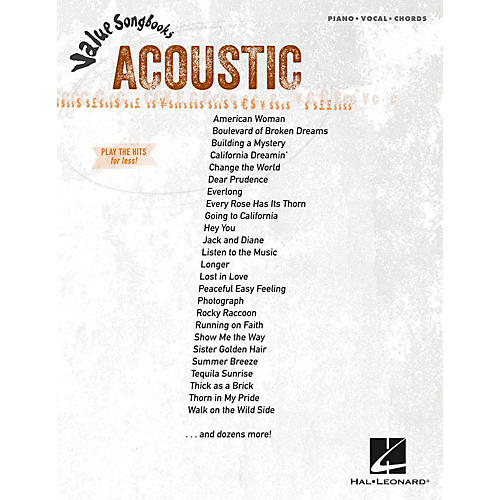 Hal Leonard Acoustic - Value Songbooks Series for Piano/Vocal/Guitar (P/V/G)