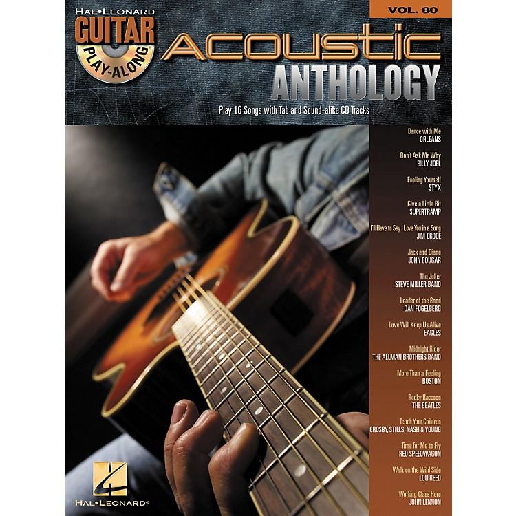 Hal LeonardAcoustic Anthology - Guitar Play-Along, Volume 80 (Book/CD)