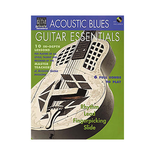 String Letter Publishing Acoustic Blues Guitar Essentials (Book/CD)-thumbnail