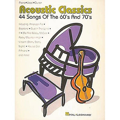Hal Leonard Acoustic Classics 44 Songs Of The '60s And '70s Piano, Vocal, Guitar Songbook-thumbnail