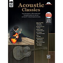 Alfred Acoustic Classics Guitar Play-Along Guitar TAB Book & CD-ROM Songbook