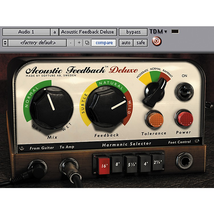 Softube Acoustic Feedback Deluxe Plug-in - TDM Software  Download