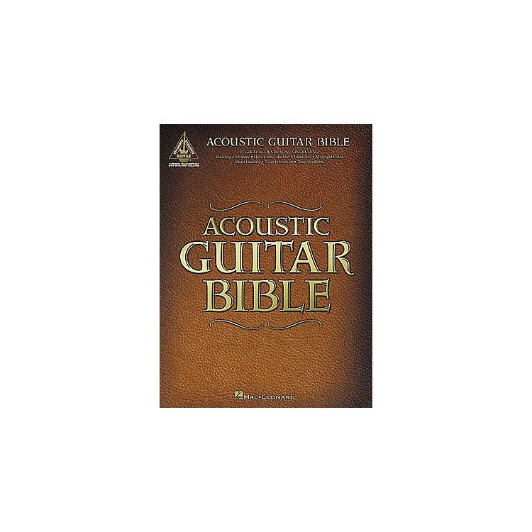 Hal Leonard Acoustic Guitar Bible Tab Songbook