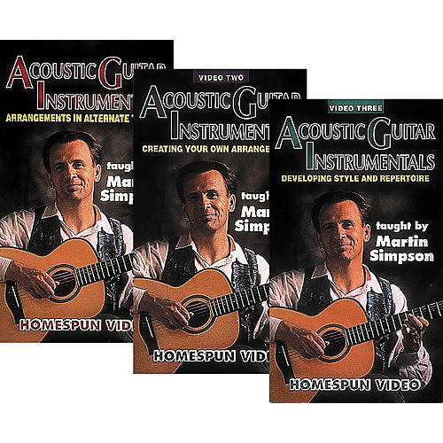 Homespun Acoustic Guitar Instrumentals 3-Video Set (VHS)