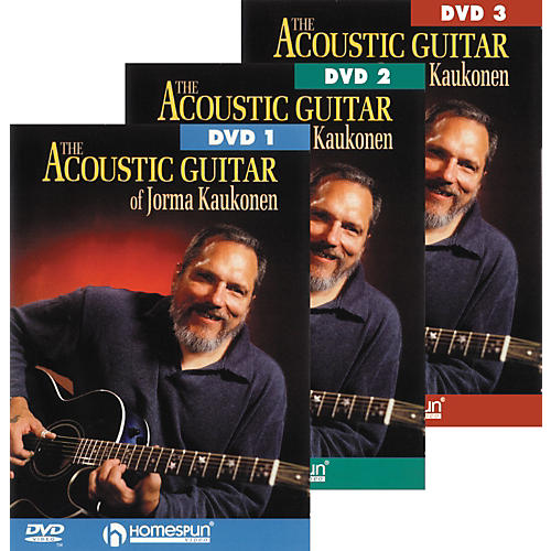 Homespun Acoustic Guitar Jorma Kaukonen 3 DVD Set