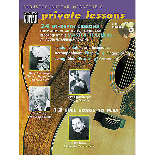String Letter Publishing Acoustic Guitar Magazine's Private Lessons (Book/CD)