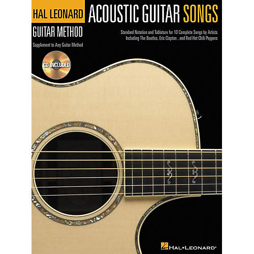 Hal Leonard Acoustic Guitar Songs Method Suppliment Book with CD-thumbnail