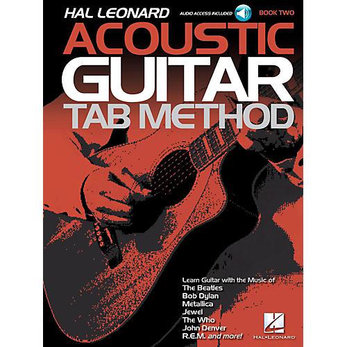 Hal Leonard Acoustic Guitar Tab Method Book 2 Book/Audio
