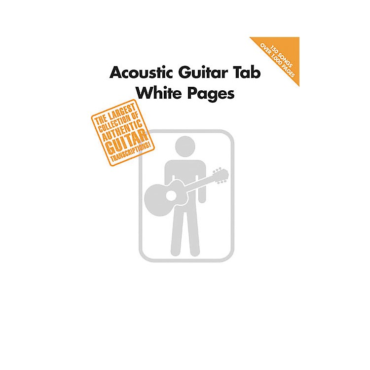 Hal LeonardAcoustic Guitar Tab White Pages Songbook