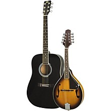 Rogue Acoustic Guitar and Mandolin Pack Black Sunburst