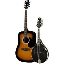 Rogue Acoustic Guitar and Mandolin Pack Sunburst Black