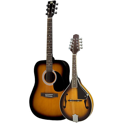 Rogue Acoustic Guitar and Mandolin Pack Sunburst Sunburst