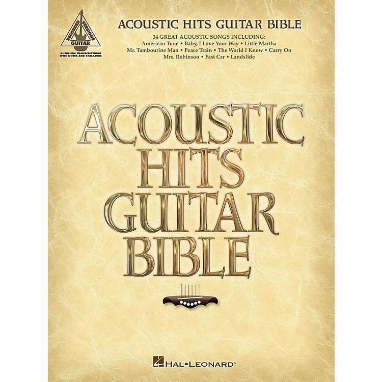 Hal LeonardAcoustic Hits Guitar Bible Guitar Tab Songbook