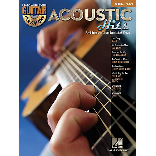 Hal Leonard Acoustic Hits (Guitar Play-Along Volume 141) Guitar Play-Along Series Softcover with CD by Various-thumbnail