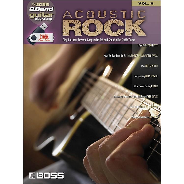 Hal LeonardAcoustic Rock Guitar Play- Along Volume 6 (Boss eBand Custom Book with USB Stick)