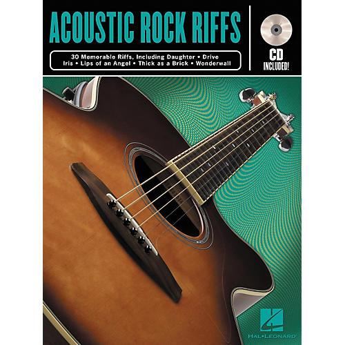 Hal Leonard Acoustic Rock Guitar Riffs Book/CD