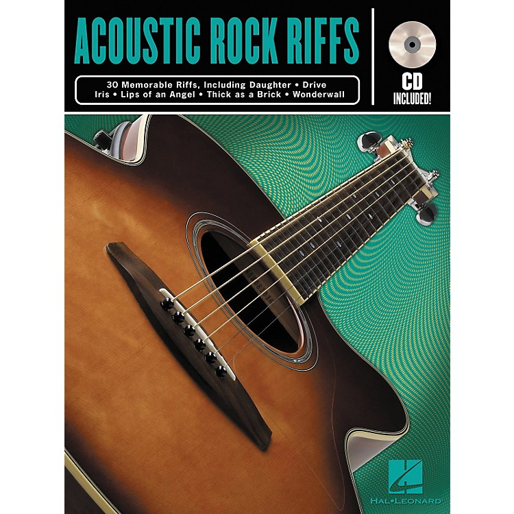 Hal Leonard Acoustic Rock Guitar Riffs Book/CD