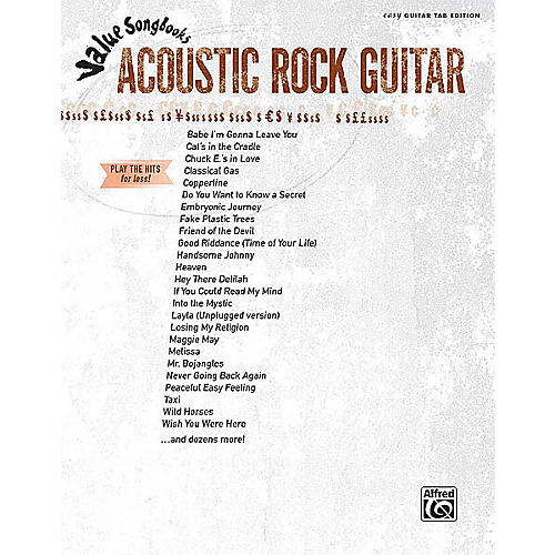 Alfred Acoustic Rock Guitar (Value Songbooks Series) Easy Guitar Series Softcover Performed by Various-thumbnail