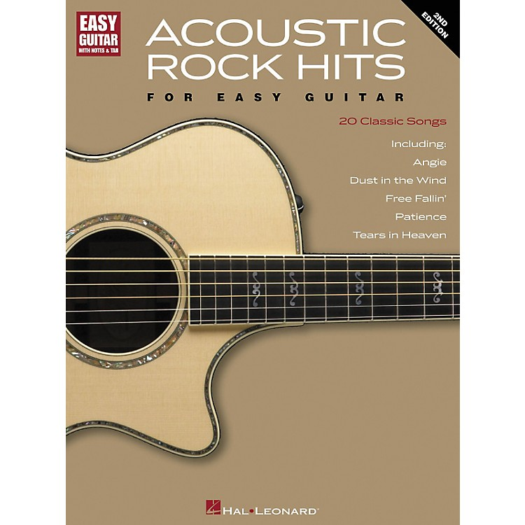Hal Leonard Acoustic Rock Hits for Easy Guitar 2nd Edition with Notes & Tab