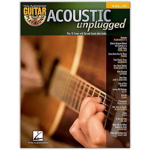 Hal Leonard Acoustic Unplugged Play-Along, Volume 37 (Book/CD)-thumbnail