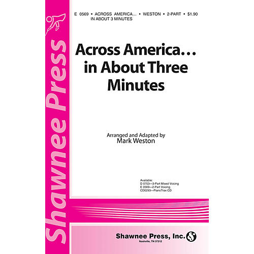 Shawnee Press Across America ... In About Three Minutes 2-Part arranged by Mark Weston-thumbnail