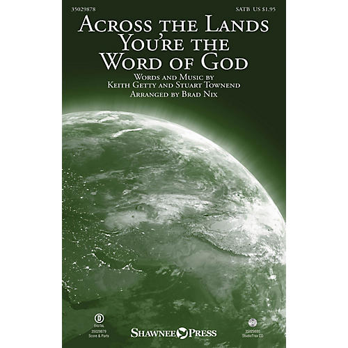 Shawnee Press Across the Lands You're the Word of God Studiotrax CD by Keith & Kristyn Getty Arranged by Brad Nix-thumbnail