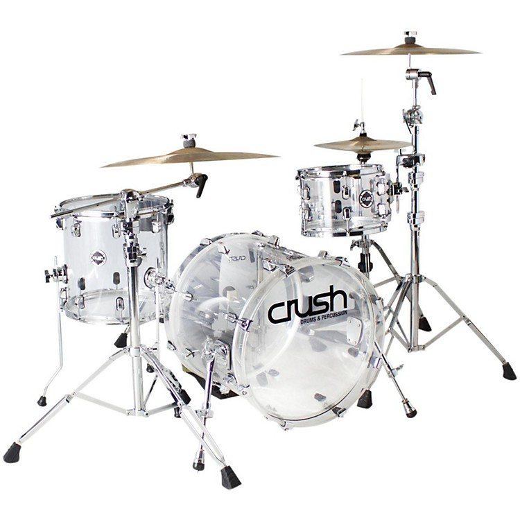 crush drums percussion acrylic 3 piece bop shell pack musician 39 s friend. Black Bedroom Furniture Sets. Home Design Ideas