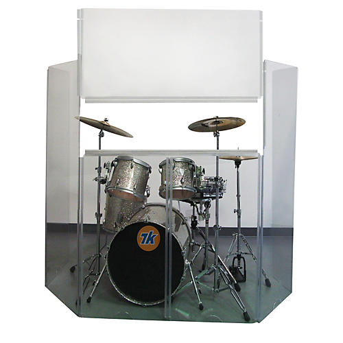 Musician's Gear Acrylic Drum Shield with Removable Front Panel 6-Piece