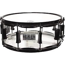 Pork Pie Acrylic Snare Drum with Black Powder Hardware