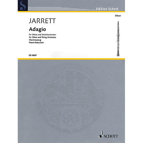 Schott Adagio (Oboe and Piano Reduction) Woodwind Series Book-thumbnail