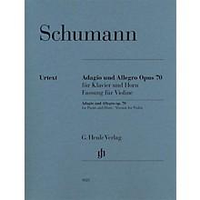 G. Henle Verlag Adagio and Allegro, Op. 70 Henle Music Folios Composed by Robert Schumann Edited by Ernst Herttrich
