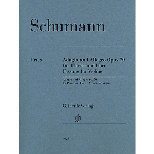 G. Henle Verlag Adagio and Allegro, Op. 70 Henle Music Folios Composed by Robert Schumann Edited by Ernst Herttrich-thumbnail