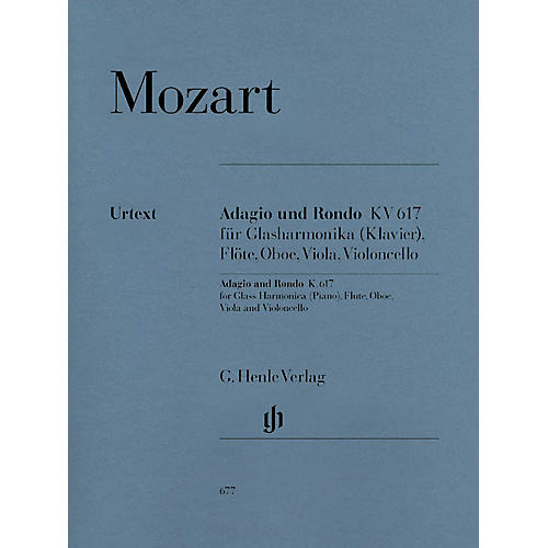 G. Henle Verlag Adagio and Rondo K617 Henle Music Folios Series Softcover  by Wolfgang Amadeus Mozart-thumbnail