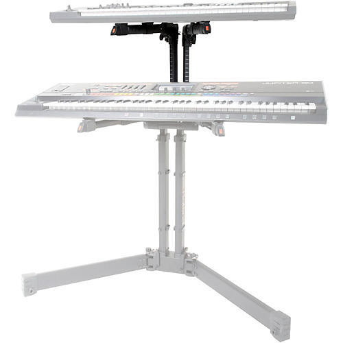 roland add on tier for pro folding keyboard stand black musician 39 s friend. Black Bedroom Furniture Sets. Home Design Ideas