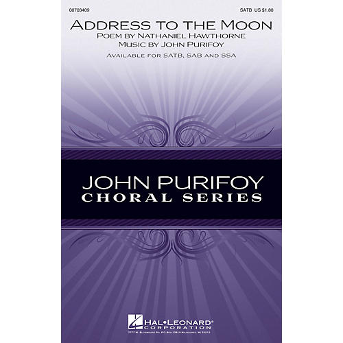 Hal Leonard Address to the Moon SATB composed by John Purifoy-thumbnail