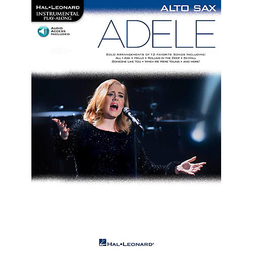 Hal Leonard Adele For Alto Sax - Instrumental Play-Along Book/Online Audio-thumbnail