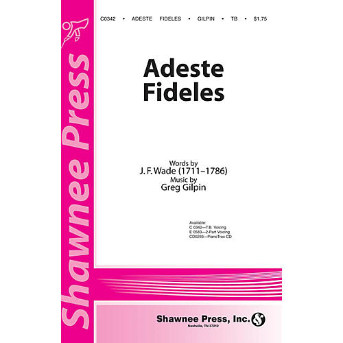 Shawnee Press Adeste Fideles TB arranged by Greg Gilpin-thumbnail