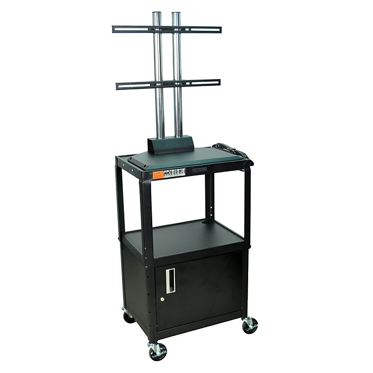 H. Wilson Adjustable Height LCD Cart with Locking Cabinet