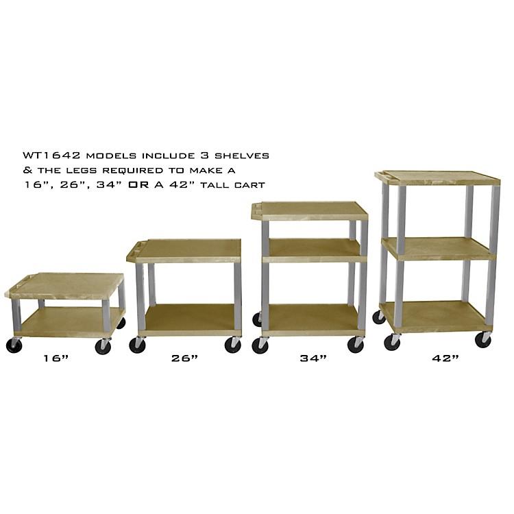 H. WilsonAdjustable-Height Open Shelf Tuffy CartTan and NickelSmall-Large