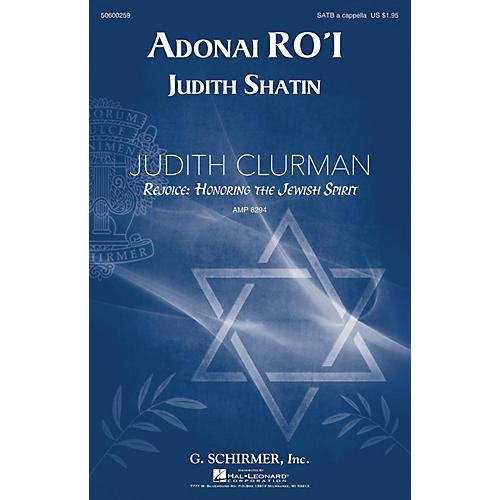 G. Schirmer Adonai Ro'i (Judith Clurman Choral Series) SATB composed by Judith Shatin-thumbnail