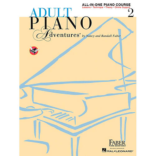 Faber Piano Adventures Adult Piano Adventures All-In-One Lesson Book 2 - Faber Piano (Book/Online Audio)