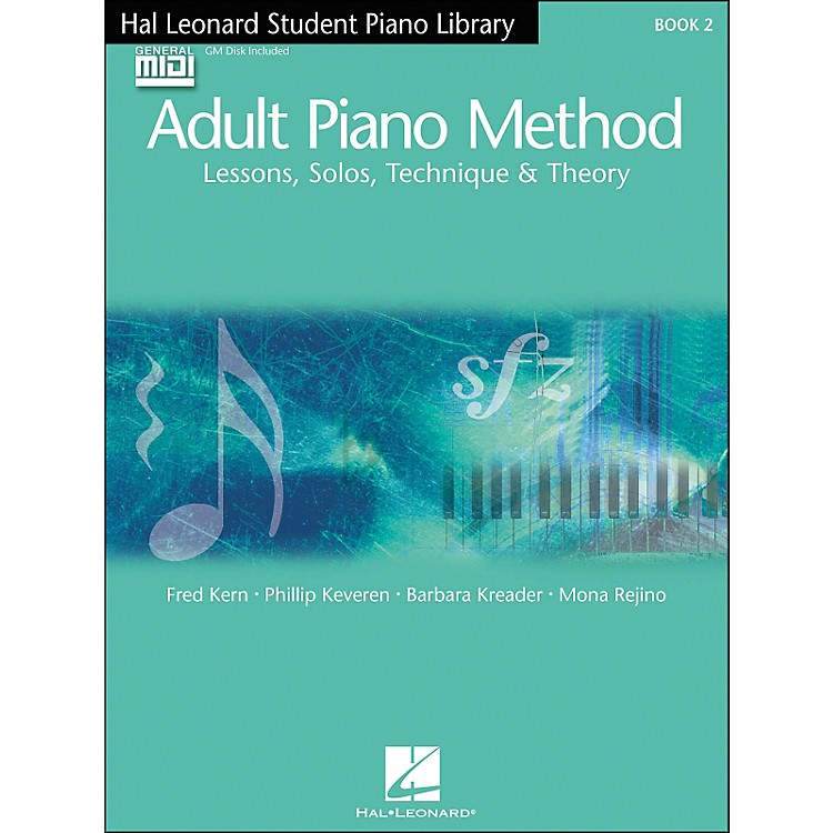Hal Leonard Adult Piano Method Book 2 Book/GM Disk pack Hal Leonard Student Piano Library