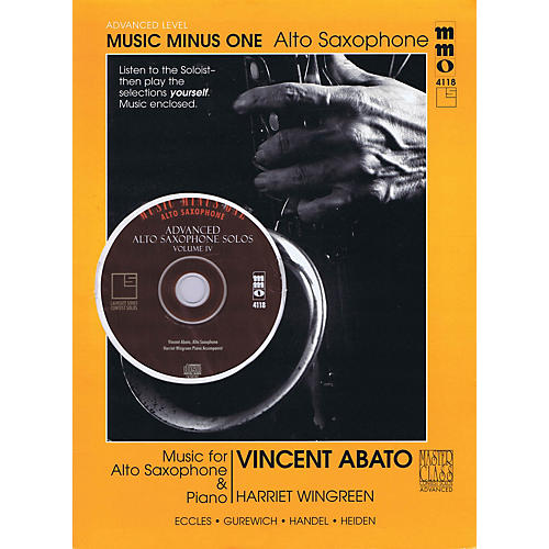 Music Minus One Advanced Alto Saxophone Solos - Vol. IV Music Minus One Series Book with CD by Vincent Abato-thumbnail