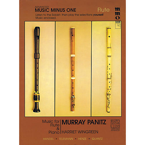 Music Minus One Advanced Flute Solos - Volume 3 Music Minus One Series Softcover with CD Performed by Murray Panitz-thumbnail