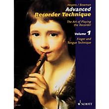 Schott Advanced Recorder Technique (The Art of Playing the Recorder) Schott Series Written by Gudrun Heyens