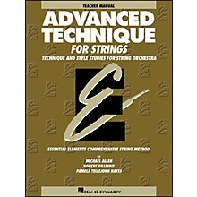 Hal Leonard Advanced Technique Teacher's Manual for Strings